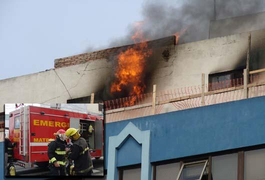 Incendio En Cl Nica Sarmiento