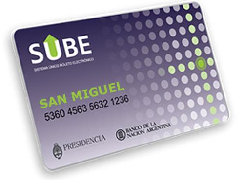 SUBE San Miguel