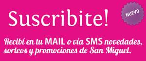 Recibi gratis las novedades de San Miguel Conectado