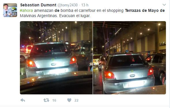 Amenaza De Bomba En El Shopping Terrazas De Mayo