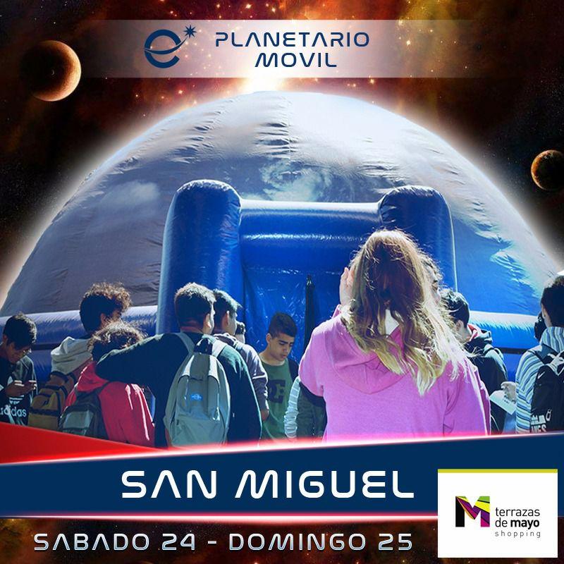 El Planetario Móvil Estrella Del Plata En San Miguel